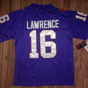 Trevor Lawrence Purple Clemson Tigers Jersey New